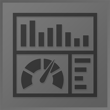 An icon showing graphs and bars used for statistics