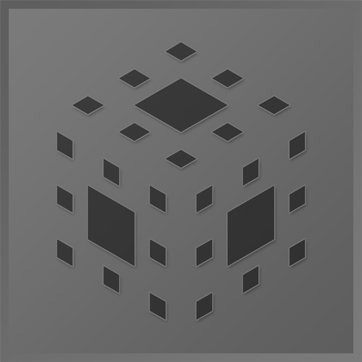 An icon showing a cube made up on smaller squares