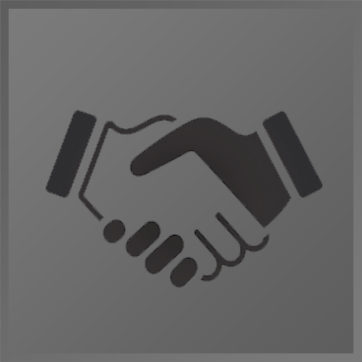 An illustration of two hands shaking in agreement
